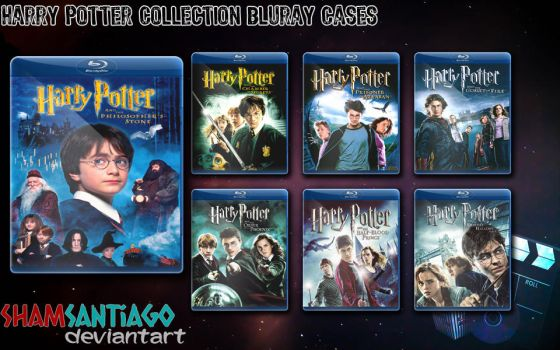 Harry Potter Collection Bluray Cases by ShamSantiago