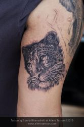 Leopard Portrait Tattoo by Javagreeen