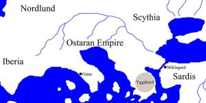 Ostaran Empire Map by MythAdvocate