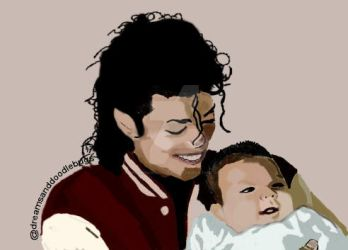 Michael And Baby by DreamsandDoodleBugs