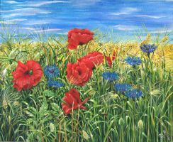 209343 Sommerblomster by v-e-y-a