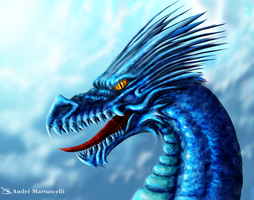 Blue Dragon by andre-ma