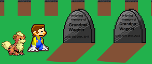Visiting Gp and Gm grave by BeeWinter55