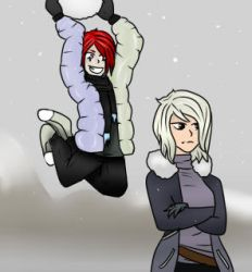 Fun in the snow by DontChangeMyWorld