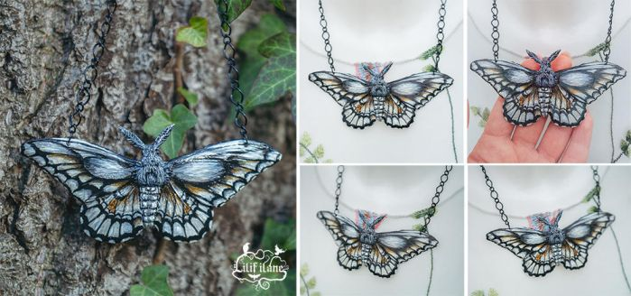 Papilio Cresphontes Necklace by LilifIlane