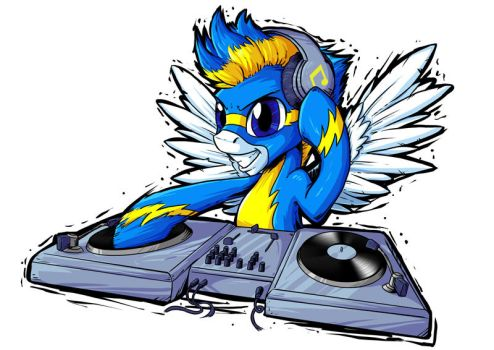 DJ Wonderbolt Commission by SonicPegasus