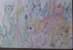 Dragons of Spyro by meroaw
