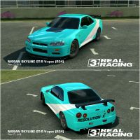 Nissan Skyline GT-R 'Resolution X' Teal version in by StrayCat-Terry
