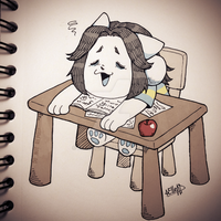 Day 7. Temmie + Exhausted [Inktober] by elleap