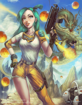 Bulma- Dragon ball by Chaos-Draco