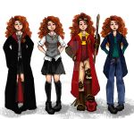 The Big Four: Merida outfits by ZLynn