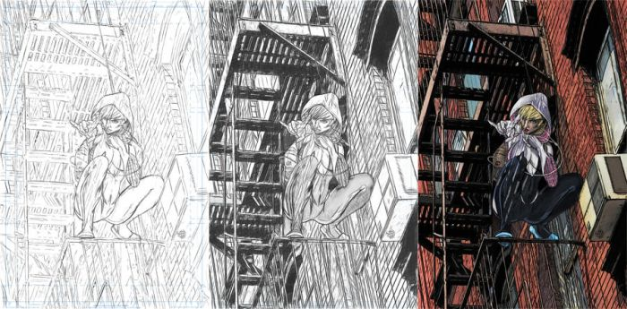 SPIDER GWEN PROCESS. by orabich