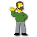 Ned Flanders - The Simpsons by domejohnny