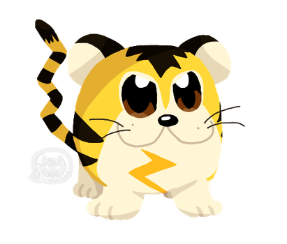 Sparky Sparky Boom Tiger (Tigrette (Beta Pokemon)) by CyanDraggon