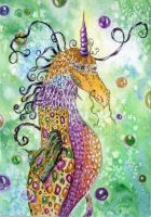 seadragon by dragonflywatercolors