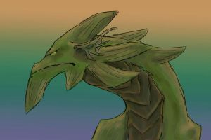 Green Sea Dragon by AwesomePonyTail