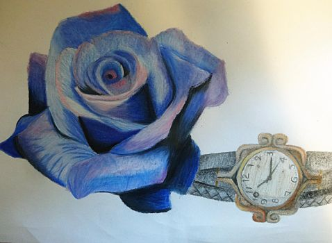 Rose and Watch by sott2624