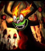 Aku The Shape-shifting Master of Darkness by skyrore1999