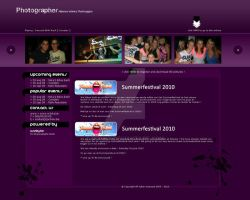 Photographer webdesign by w3nky