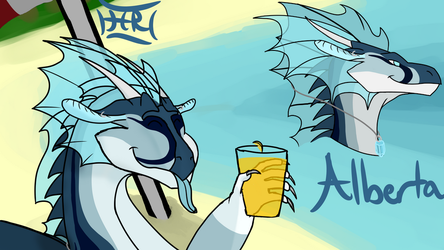 Something to Drink (AlbertaBlu Contest Prize) by Hurricane-Rising