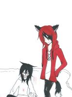 .:Request 3:.Eve and Jeff the killer by LouaSmourbif