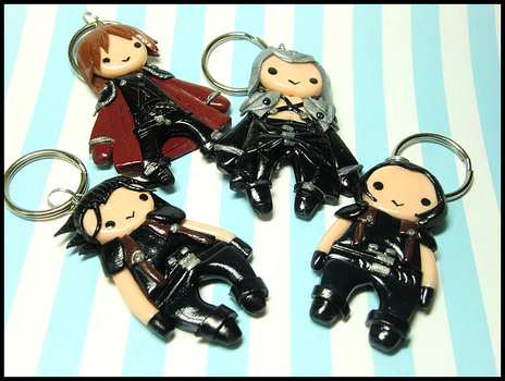 Crisis Core Keychains by GrandmaThunderpants