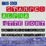 Stamped Alpha Font by debh945