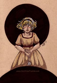 Alice - Inktober 5 by thetickinghearts