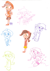 Adyson Sweetwater Sketches. by Pinky1babe