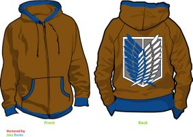 Attack on Titan Survey Corp Fleece Hoodie Sketch by Weeaboo-Warehouse