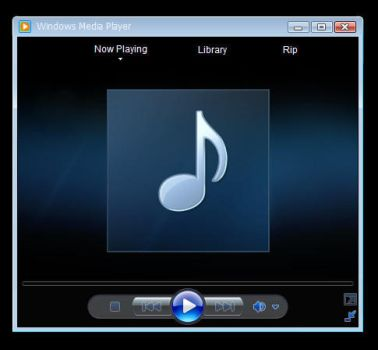 windows media player 12 skin by DeMoNBL4dE