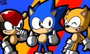 Sonic Mania Plus Mighty and Ray by AnotherRandomMegaMan