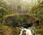 Fairy Castle in the Forest Premade Background by CelticStrm-Stock