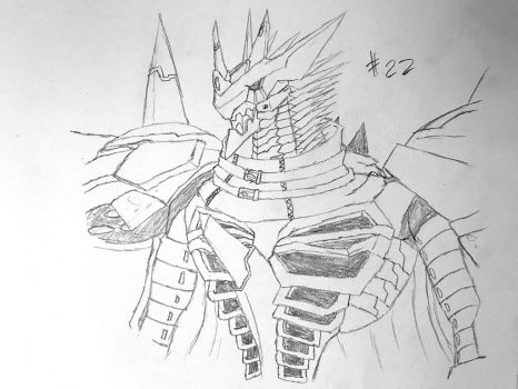Digimon Sketch Challenge: Day #22 by Omnimon1996