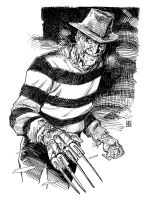 Nightmare on Elm Street's Freddy Krueger by deankotz