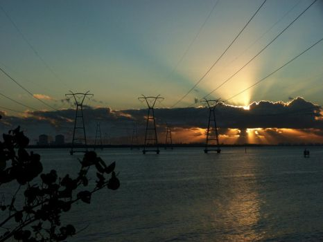 St Lucie Nuclear Plant Sunrise by ecfield