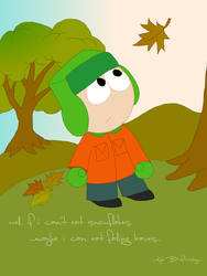 Kyle and The Leaves by Drawn-Mario
