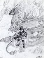 The dragon rider by draks