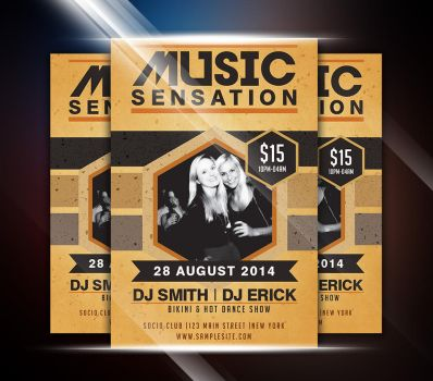 Music Sensation Party Flyer by afizs