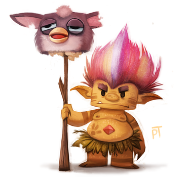 Sketch Dailies Challenge - Troll by Cryptid-Creations