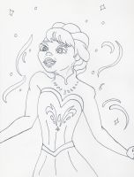 Unofficial Frozen Coloring Book Elsa by MyThoughtsAreDeep