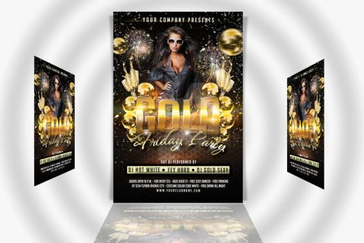 01 Gold Friday Party Flyer