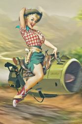Cowgirl Pin Up by Aste17