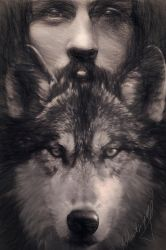 San Francesco and the Wolf by Phatpuppyart-Studios