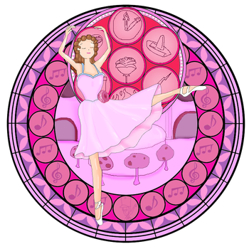 KH Stained Glass : Ballerina From Fantasia 2000 by VelociPRATTor