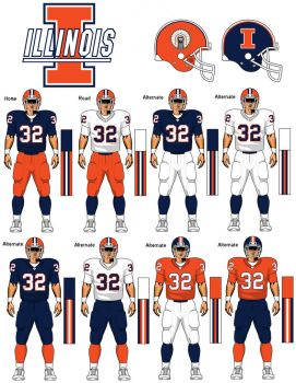 Fighting Illini uniform concept by TheGreatKtulu