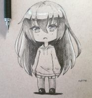 Chibi drawing-chan by Periphone