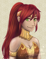 RWBY - Pyrrha by MiaMaha