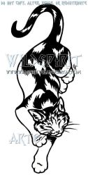 Calico Cat Tattoo Design by WildSpiritWolf