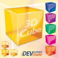 Photoshop 3D Cube by thedevstudio